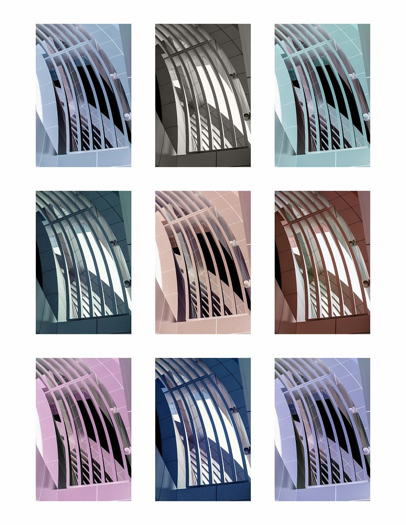 Collage of architectural building angles