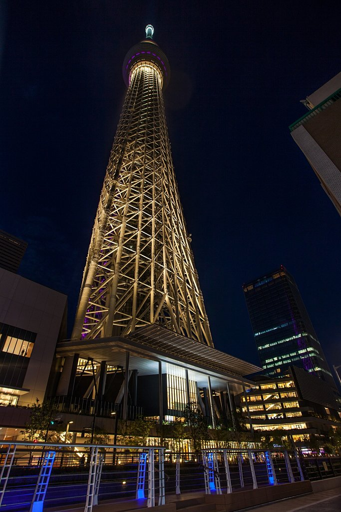 Tokyo Skytree and Solamachi complex at night in Tokyo, Japan 3
