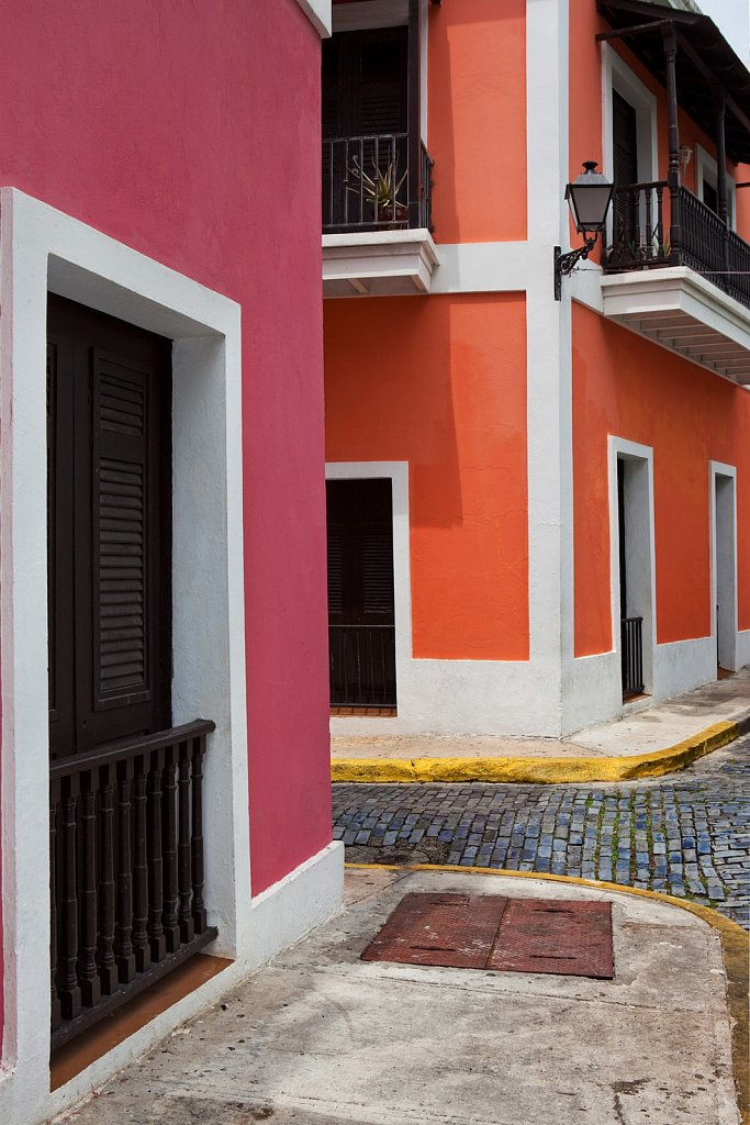 Colorful walls in Old San Juan, Puerto Rico