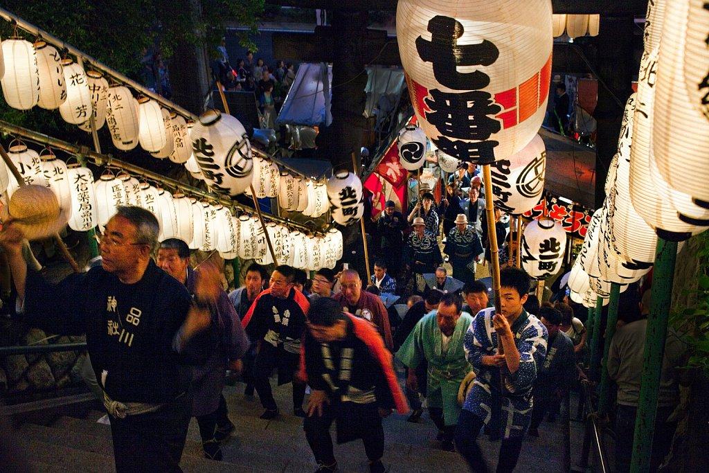 Shinagawa Shrine Matsuri at Shinagawa, Tokyo, Japan