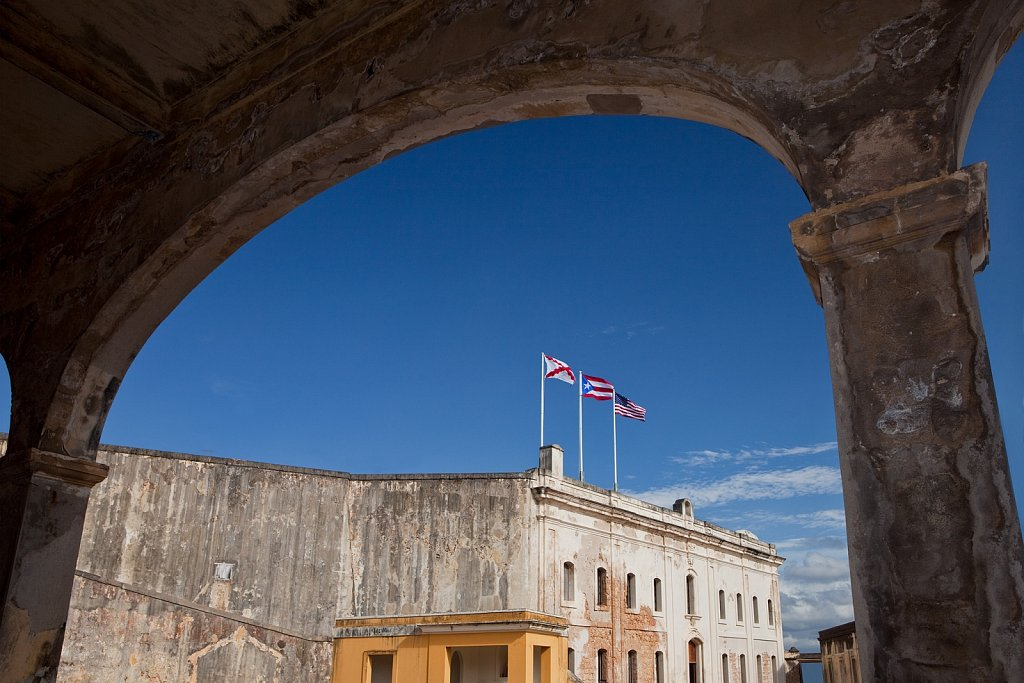 Arch at Fort San Cristobal, Puerto Rico