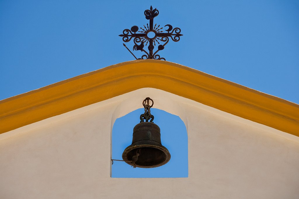 Chapel bell and cross in San Jose del Cabo, Mexico