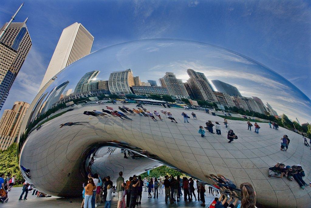 Millenium Park in downtown Chicago, Illinois