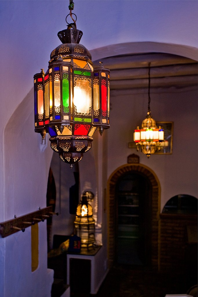 Lamps in Chefchaouen, Morocco